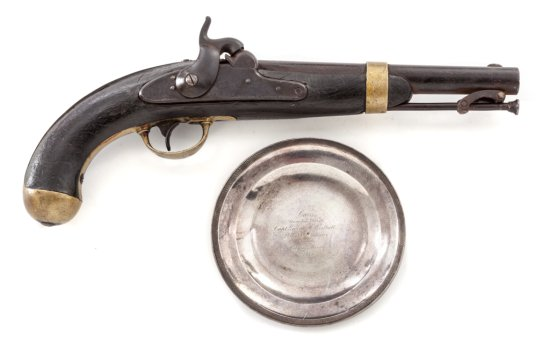 U.S. Model 1842 Percussion Pistol, by H. Aston