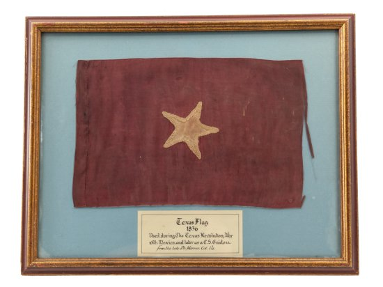 Rare Texas Flag, ca. 1836