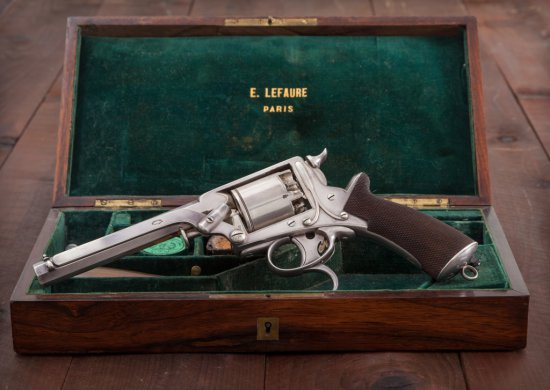 Exquisite Silver-Plated Tranter 2nd Model Revolver