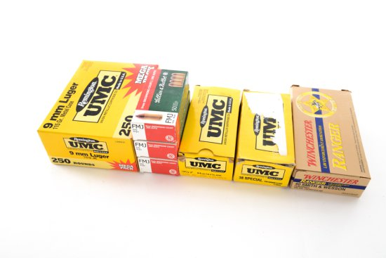 Ammo Lot:  550 Rounds of Misc. Handgun Cartridges