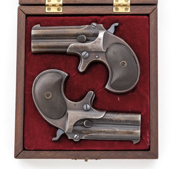 Cased Set of Remington Over/Under Derringers
