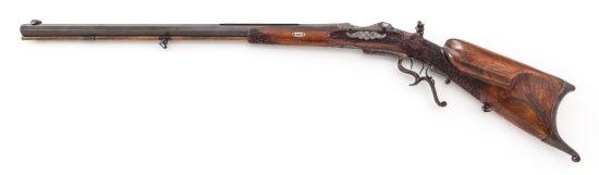 Ornate Antique Southern German Schuetzen Rifle