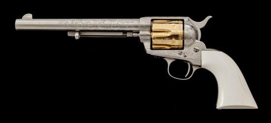 Custom Engraved Antique Colt SAA Revolver