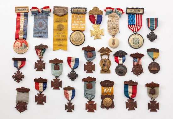 Lot of 23 GAR Ladies Relief Corps Badges