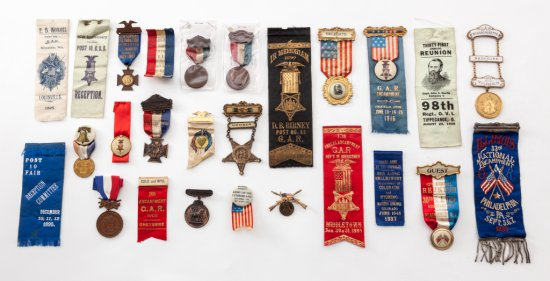 Lot of GAR Ribbons and Medals