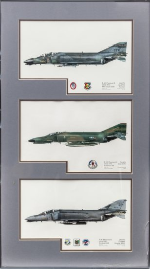 Lot of 2 Framed Sets of Phantom II Prints