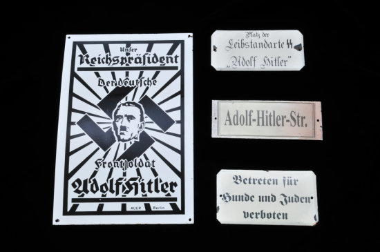 Lot of 4 German Enameled Tin Signs