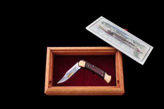 Ltd. Ed. Gold Etched Buck Model 110 Knife
