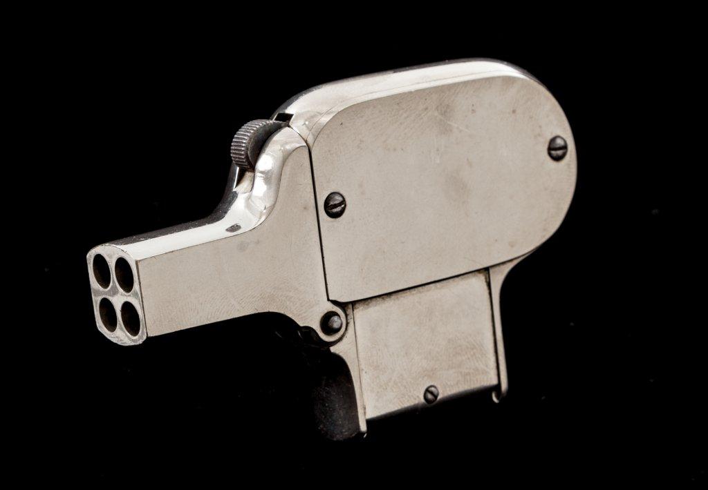 Rare C.S. Shattuck ''Unique'' 4-Barrel Pistol