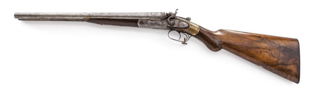 Very Early Greener Side-by-Side Hammer Shotgun