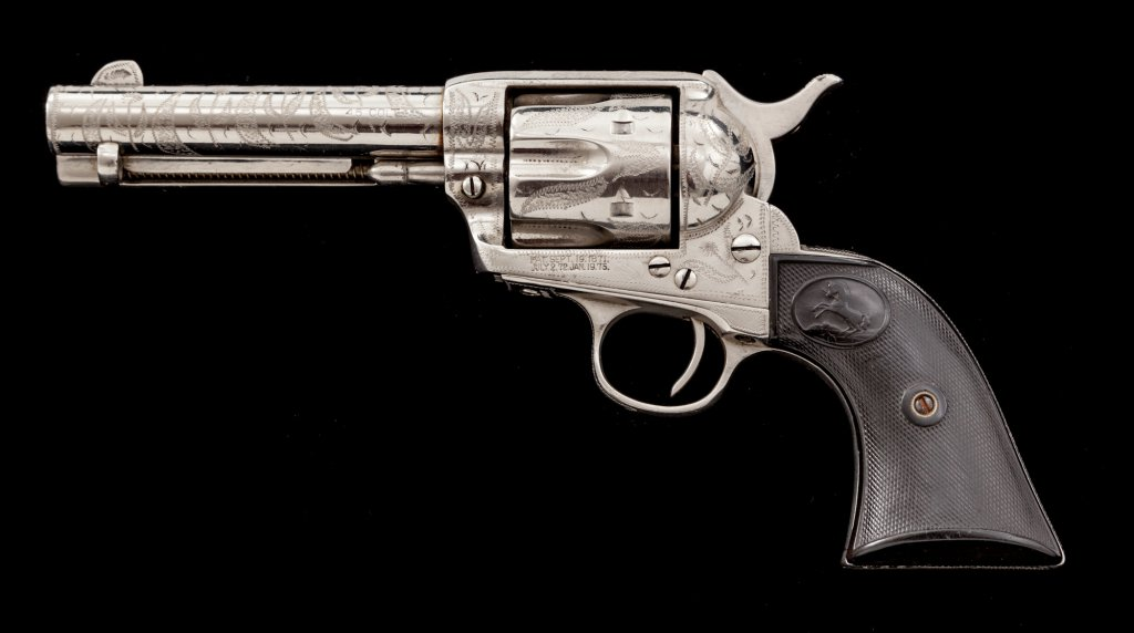 Border Engraved Colt Single Action Army Revolver