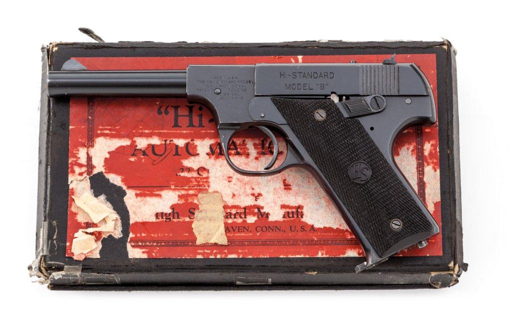 U.S. Prop. mkd Hi-Standard Model B Sporting Pistol