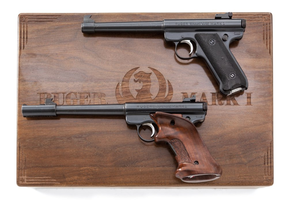 Cased Set of Two (2) Ruger MK I Semi-Auto Pistols