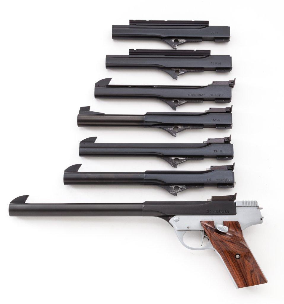Rex Merrill Sportsman Single Shot Pistol, w/7 barrels