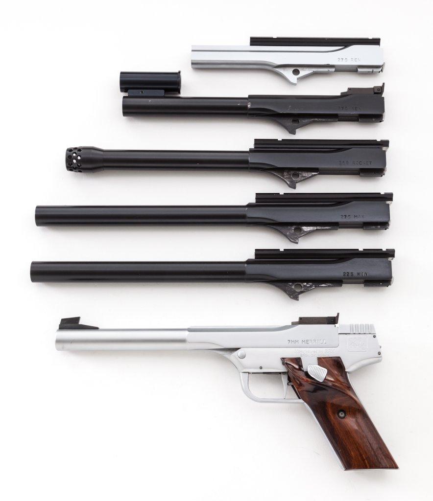 Merrill XL Single Shot Pistol w/6 barrels