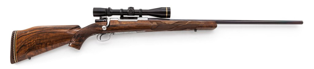 Highly Eng'd Custom Mauser Bolt Action Rifle
