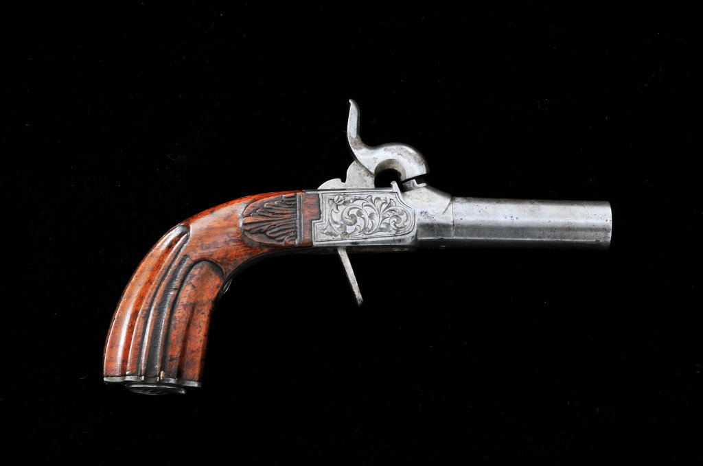 Antique Belgian Screw-Barrel Pistol