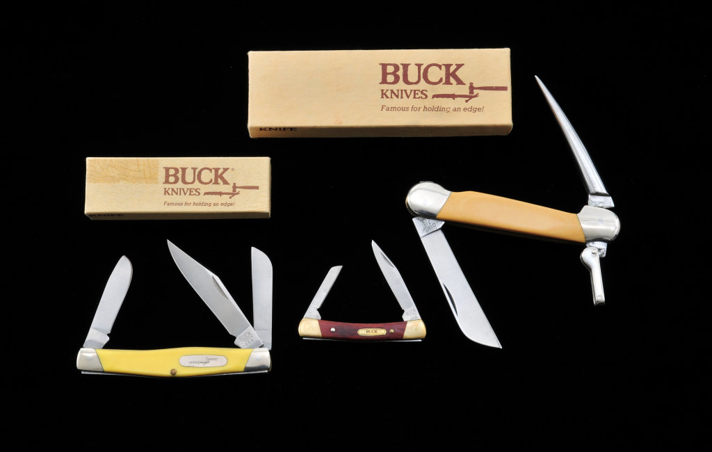 Lot of 3 Spec. Feature Buck Knives