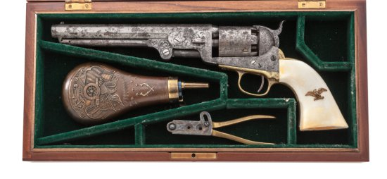 Factory Engraved Colt 1851 Navy Perc. Revolver