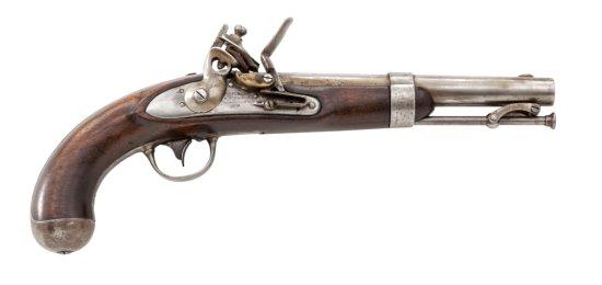 U.S. Model 1836 Flintlock Pistol, by R. Johnson