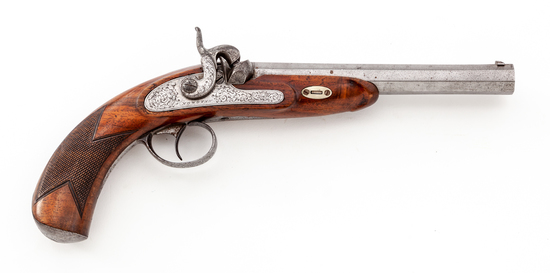 German Percussion Pistol, by M. Nowotny