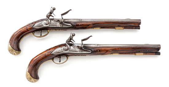 Pair of German Horse Pistols, by Lohrman of Essen