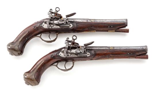 Pair of Spanish Miquelet Pistols - Doiztua