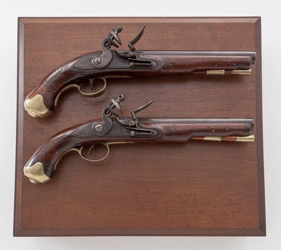 Pr. British Pattern 1759 Eliott's Lt. Dragoon Flintlock Pistols
