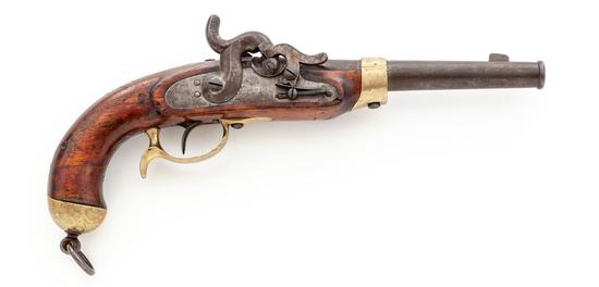 Antique Single Shot Prussian Military Perc. Pistol