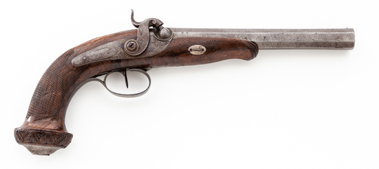French Aury Single Shot Perc. Dueling/Target Pistol