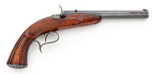 Antique Single Shot Cartridge Target Pistol, by Genez