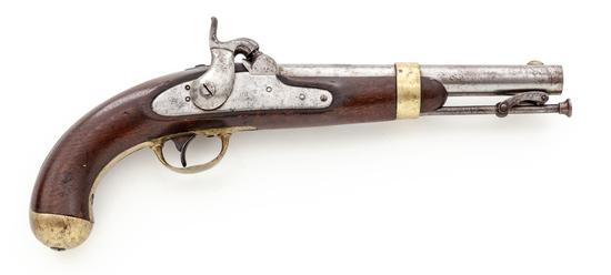 U.S. M.1842 Single Shot Perc. Pistol, by H. Aston