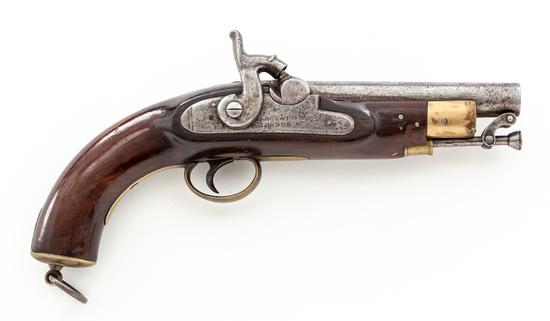 English Large Bore Single Shot Perc. Pistol, by Lacy