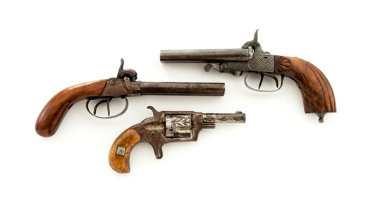 Lot of 3 19th Century Handguns