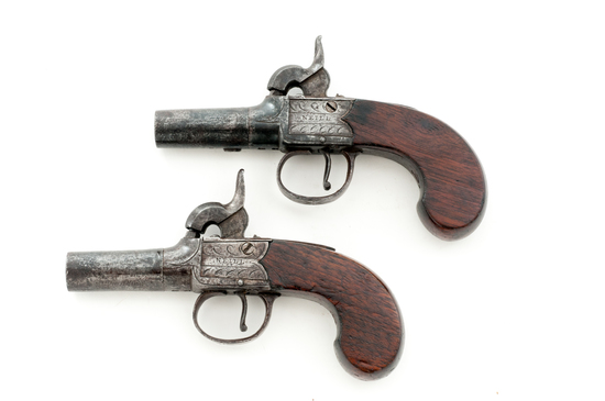 Pair of Irish Boxlock Perc. Pistols, by Neill