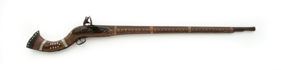 Ornate Middle Eastern Flintlock Camel Musket