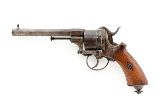 Leffaucheux Model 1854 Military Pinfire Revolver