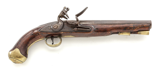 Antique British Large Bore East India Pattern Flintlock Pistol