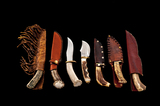 Lot of Seven (7) Stag-Handled Hunting Knives