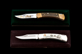 Lot of 2 Ltd. Ed. Buck Model 110 Knives