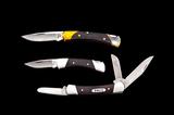 Lot of Three (3) Buck Folding Knives