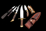Lot of 6 Custom Knives by Unidentified Makers