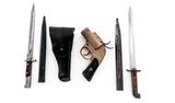 Lot:  Bayonets, Holster, Flare Pistol