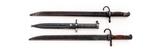 2 Arisaka Bayonets & 1 Swedish Mauser Bayonet