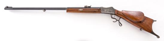 Antique Swiss Schuetzen Rifle