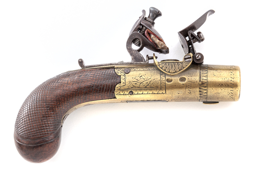 Unusual Palmer English Flintlock Pistol