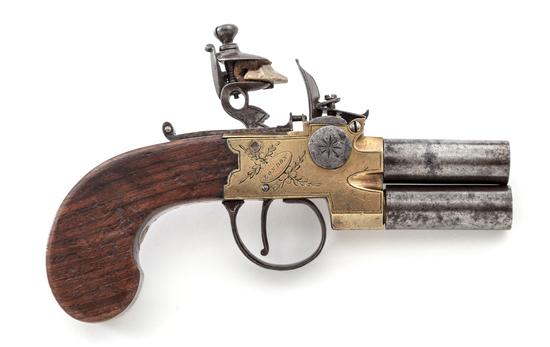 Goodwin & Co. O/U Flintlock Pistol
