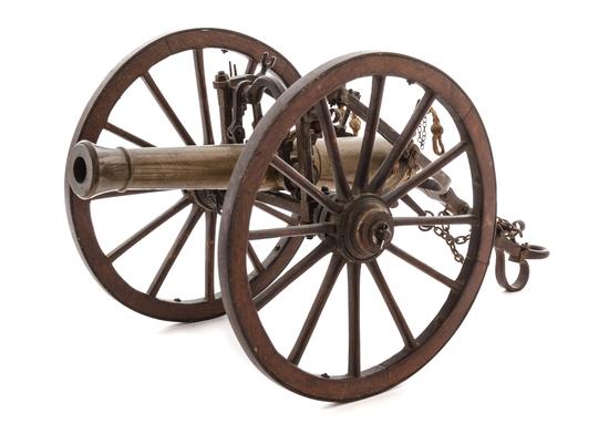 Small Brass Cannon Model
