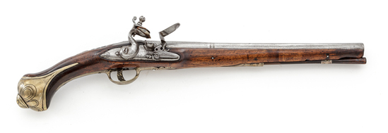 Ornate Antique European Flintlock Holster Pistol