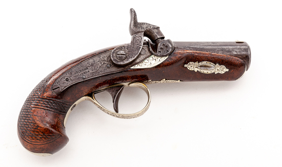 Antique Perc. Pocket Pistol, by H. Deringer